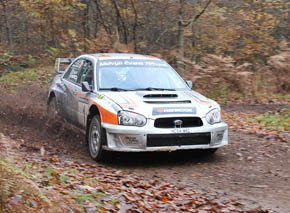 2013 Premier Rally winners - Robert Swann and Aled Edwards in their Subaru Impreza WRC.